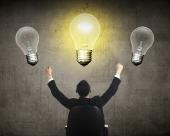 Business Person Have Bright Idea Light Bulb