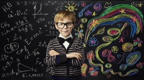 Kid Creativity Education Concept, Child Learning Art Mathematics