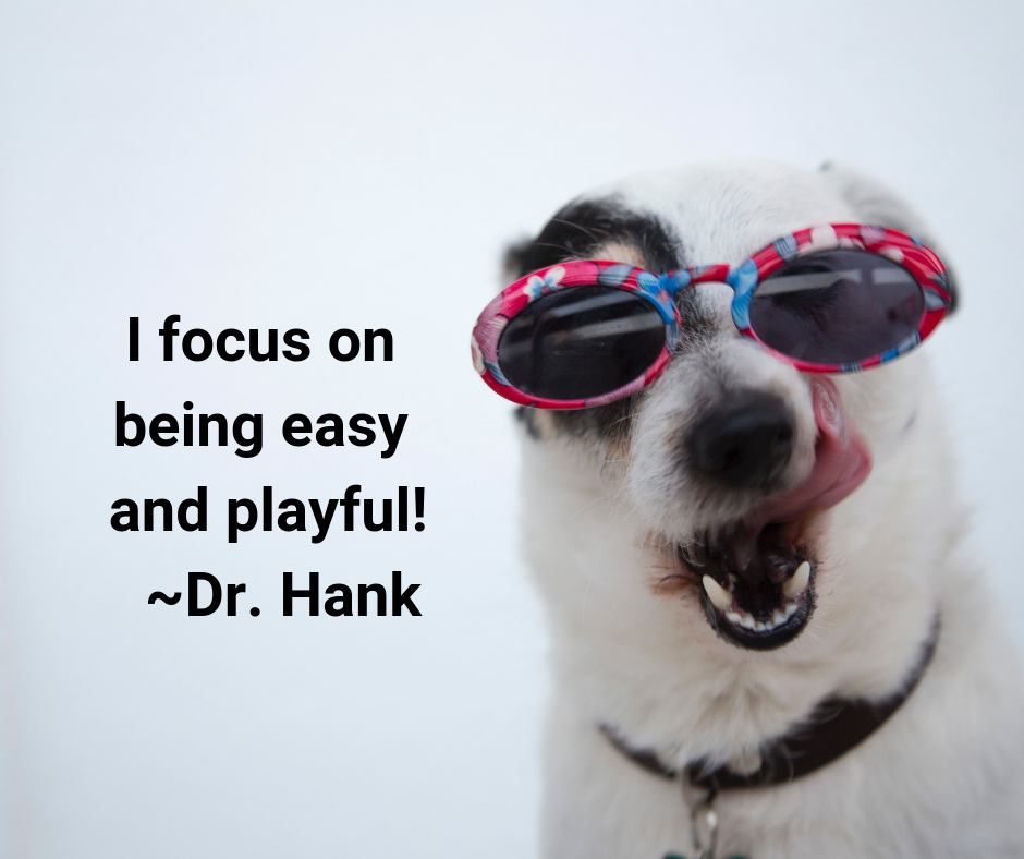 I focus on being easy and playful! _Dr. Hank